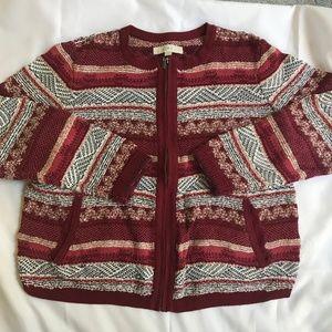 Printed Sweater Jacket
